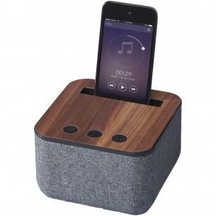 Kneeton Fabric and Wood Bluetooth  Speaker