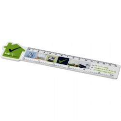 Loki 15 cm house-shaped plastic ruler