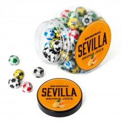 Mini Cookie Jar of Footballs