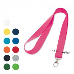 20mm Basic lanyard with hook