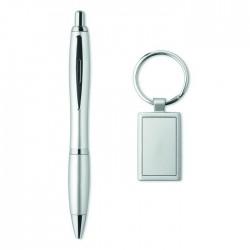 Ball Pen And Keyring Set