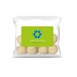 Flow Bag Chocolate Malt Balls - White
