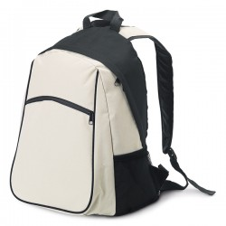 Backpack with mesh side pockets