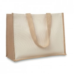 Jute And Canvas Shopping Bag
