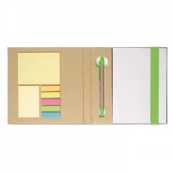 Notebook With Stickynotes & Pen