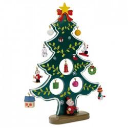 Wooden xmas tree decoration