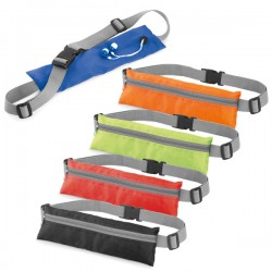 Waist pouch with cable slot