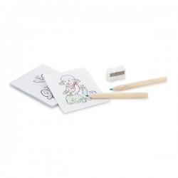 Colouring set with pencils
