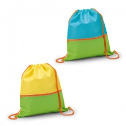 Kids drawstring bag with pocket