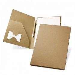 A5 card folder with pad