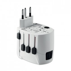 Sidney Pro World & USB. 3-Pole Travel Adaptor