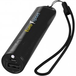 Caldicot power bank with lanyard and light 2200mAh