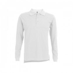 Bern Mens Long Sleeve Polo Shirt White
