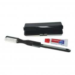Black Travel Toothbrush Set (Colgate Toothpaste)