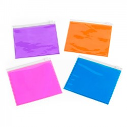 Small Slide Clear Colour Zip PVC Bag
