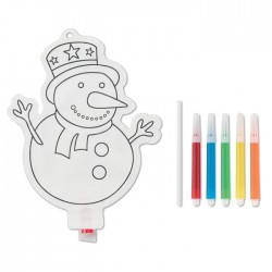 Snowman colouring balloon
