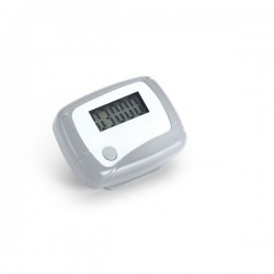 Step counter with battery