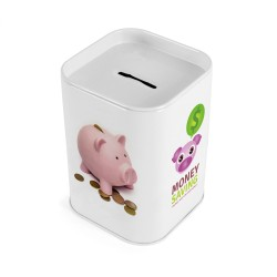 Square Money Box Tin