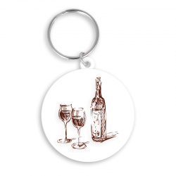 45mm Circle Keyring