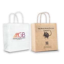Mini Kraft Carrier Bag Digital Print