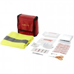Paula 18 piece first aid kit and professional safety vest