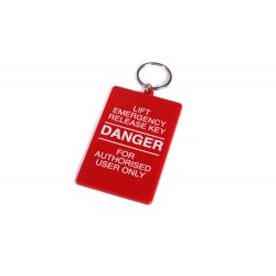 80mm Rectangle Keyring