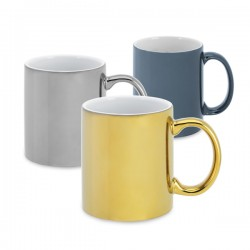 Metallic finish mug