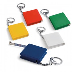 Keyring with tape measure