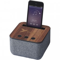 Kneeton Fabric and Wood Bluetooth  Speaker