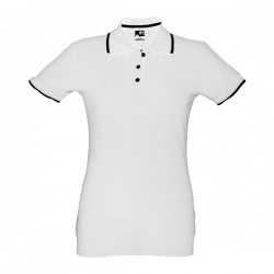 Rome Womens Slim Fit Polo Shirt White