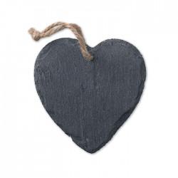 Slate Xmas hanger heart