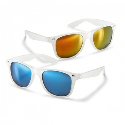 Mirrored translucent sunglasses