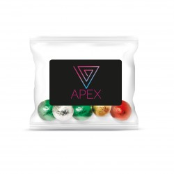 Flow Bag Chocolate Foiled Balls