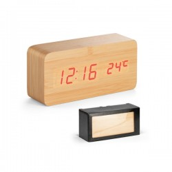 Clock with themometer