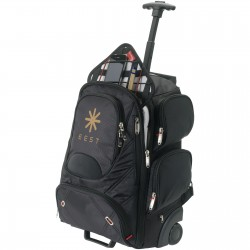 """Rowena checkpoint friendly 17"""" laptop wheeled backpack"""