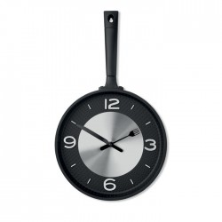 Wall clock in pan shape