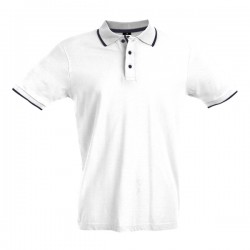 Rome Mens Slim Fit Polo Shirt White
