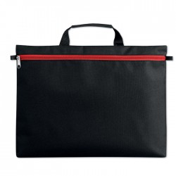 Document Bag With Full Length Zip