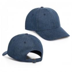 Denim cap with buckle