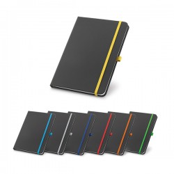 80 sheet black notepad