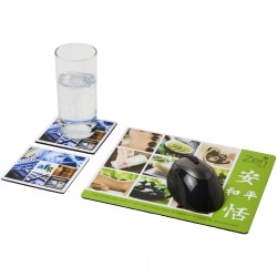 Q-Mat® mouse mat and coaster set combo 3