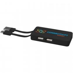 Keadew USB Hub with Dual Cables