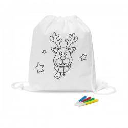 Children's colouring drawstring bag