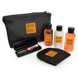 6pc Black Travel Set in a Black Bag